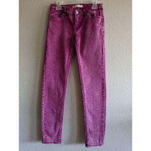 Girl's Levi's 710 Acid Wash Skinny Jeans